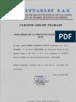 Certificado de Trabajp