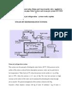 Steam Jet Refrigeration