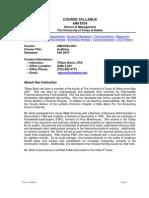 UT Dallas Syllabus for aim6334.0g1.10f taught by Tiffany Bortz (tabortz)