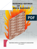 Fire Endurance Rating Clay Brick Masonry Wscpa