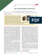 Sintesis y Propiedades de Semiconductores de Pirita