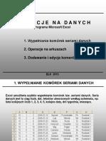 Operacje Na Danych - Excel