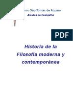 Historia de La Filosofia Moderna y Contemporánea
