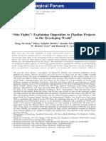 McAdam Site Fight Opos Pipiline