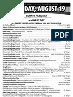 Kentucky State Fair schedule for Thursday Aug. 19, 2010