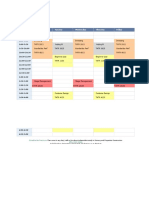 Fall 2017 Schedule