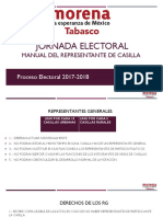 Manual Del Representante de Casilla 2017-2018