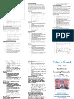 brochure first grade template