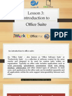 LESSON 3 - Introduction to Office Suite