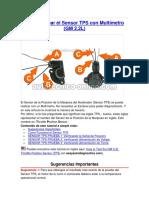 Cómo Probar El Sensor TPS Con Multímetro