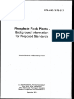 Phosphate Rock Plants -Background Information for Proposed Standards