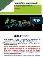 DNA Mutations and Repair- Rajesh 2
