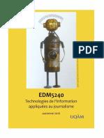 Syllabus Data Journalism (EDM5240-A2016)
