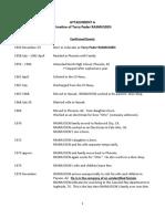 Terry Rasmussen Timeline