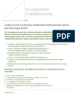 Nicaragua Y SUS CONVENIOS AMBIENTALES INTERNACIONA_ Cuales Son Los 6 Convenios Ambientales Internacionesl, Que El Pais Nicaragua Firmo