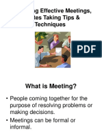 Organising Effective Meetings, Minutes Taking Tips & Techniques.ppt