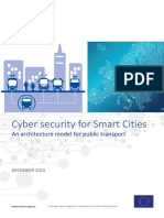 Cyber Security for Smart Cities - An Architecture Model for Public Transport