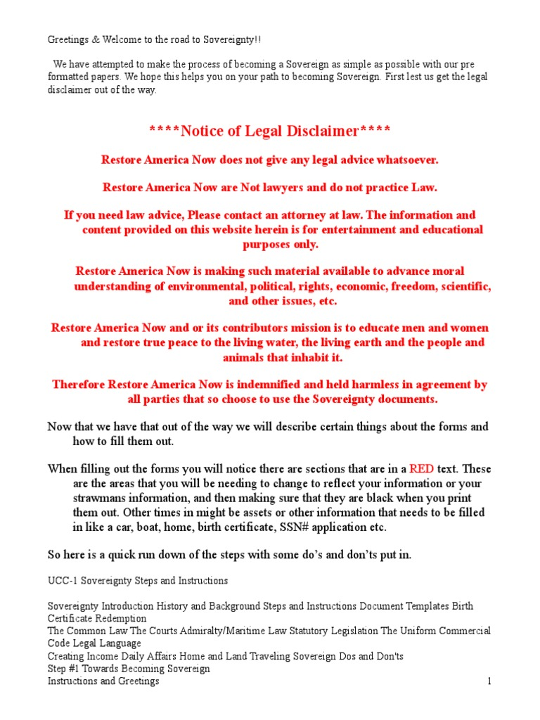 Instructions And Greetingsc Trust Law Security Interest