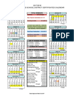 2017-2018 Certificated Calendar