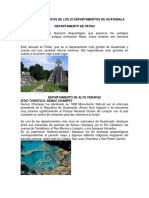 Lugares Turisticos de Cada Departamento de Guatemala