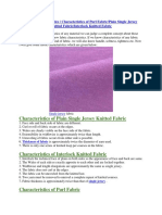 Fabric Characteristics