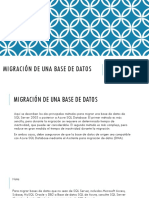 Migración de Una Base de Datos