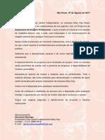 Carta de Apresentação de Proposta