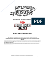 Volos Guide to Monsters a D&D Adventurers League Reference (5e) (10295414)