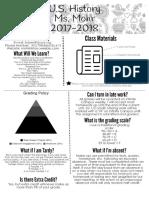 u s  history syllabus 2017-2018