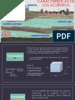 Características de Los Acuíferos Barrera