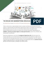 10 Dicas de Marketing Educacional