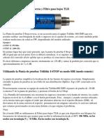 Uso de Punta de Pruebas Trilithic y Filtro TBL3