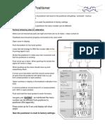 Calibration of Positioner
