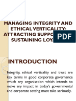 Managing Integrity and Ethical 2