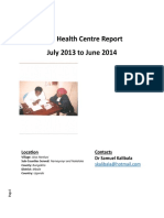 Toth Health Centre Report Jul 2013 to June 2014