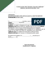 Modelo Carta Aceptacion Comisario Dirigida Al Registrador Mercantil