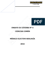 3526-Ex Cátedra N°6 Biología 2016