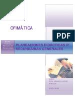 Planeación Didáctica 2º Secundaria Ofimatica