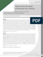 Acupuntura No Sistema Único de Saúde e a Inserção de Profissionais Não Médicos