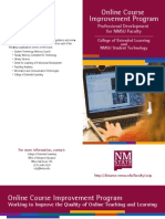 Online Course Improvement Program Brochure