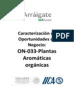Plantas aromaticas orgánicas