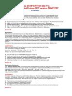 Actualizado - Cisco Ccnp Switch Dumps 300-115 Ratedr Copy-paste June 2017 PDF