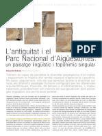 L Antiguitat i El Parc Nacional d Aigues
