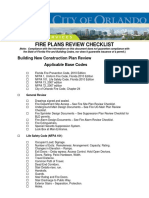 Fire Plans Review Checklist