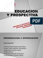 Informe Ppt Educacion y Prospectiva