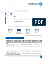 Informe psicologico laboral Ejemplo de Modelo Clásico
