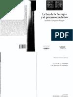 La Ley de La Entrop a y El Proceso Econ Mico Red