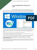 Como Solucionar El Error 0x8024a105 en Windows 10 Update (Actualización)