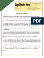 August-September 2017 Newsletter OA