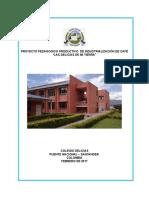 Proyecto Industrializción de Café Colegio Delicias Puente Nacional Santander Colombia